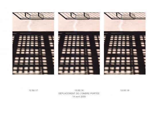 Déplacement de l'ombre, 14-04-2009